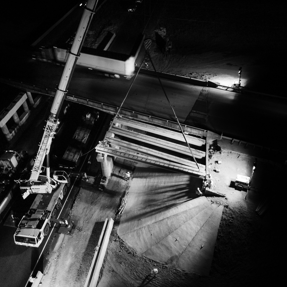 Night Construction // Fused Industries Project // Bridge Construction