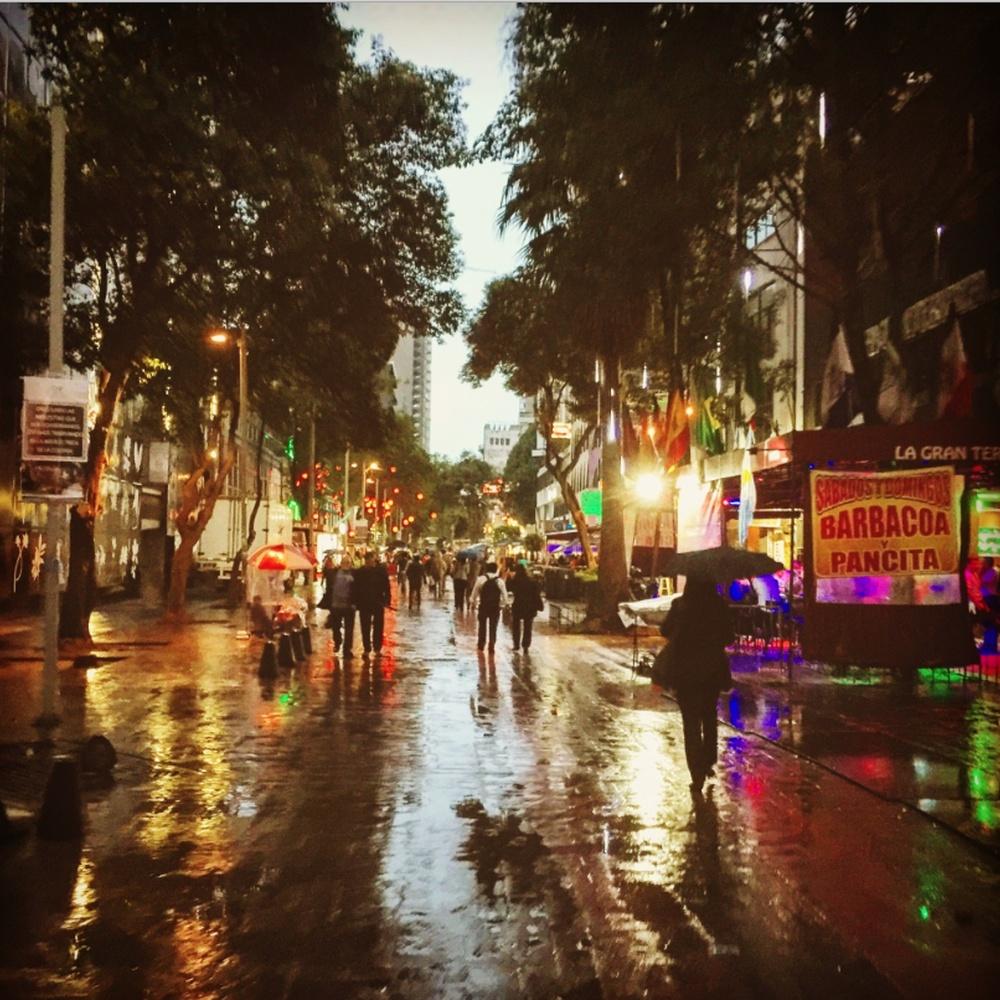 Rainy night in Mexico City