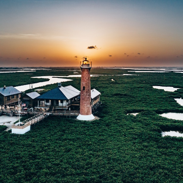 Lighthouse with Sunset in Port Aransas