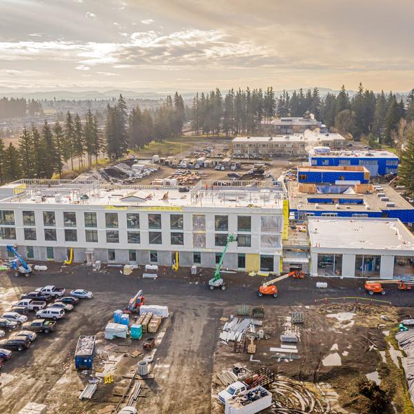 EPS Admin bldg - January 2021 construction progress photos