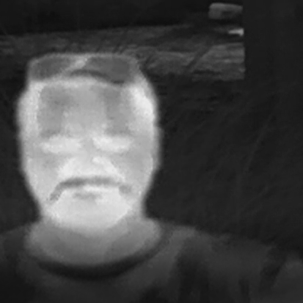 FLIR Thermal Image of TCAS Analytics Owner Grant Ebner Rocking The Man-Stache