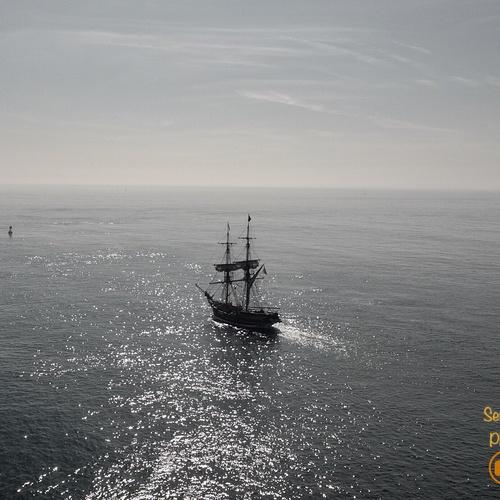 Tall Ship Newport Beach over Water