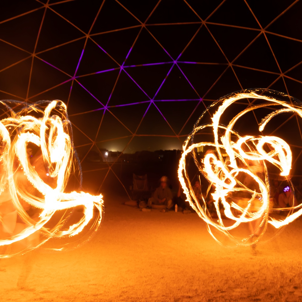 Fire Dancer Time-Lapse
