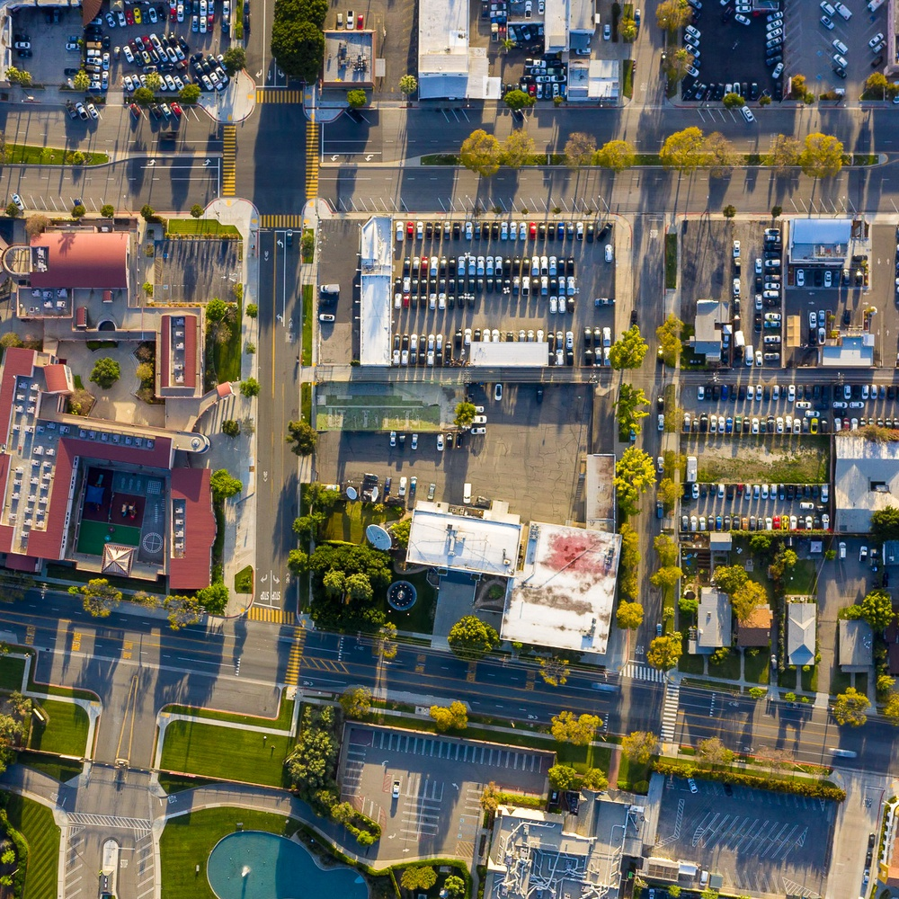 STREET CITY BLOCK SURVEY OVERHEAD