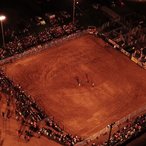 Rodeo - First rodeo picture by drone