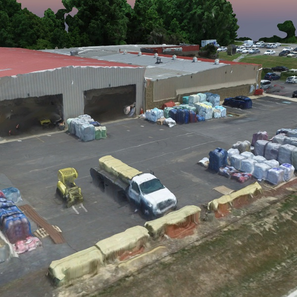 3D Rendering of Sneeds Ace Hardware Back Lot, Owings MD
