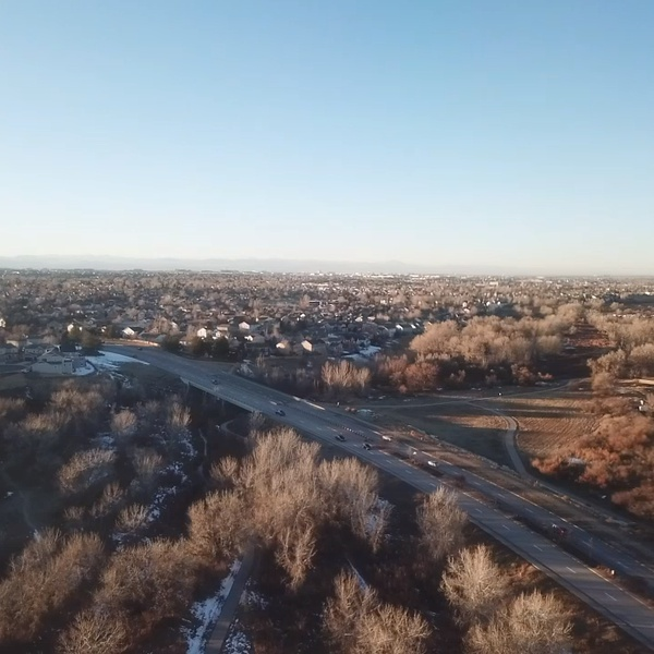 Aerial view from Sulphur Gulch in Parker, CO