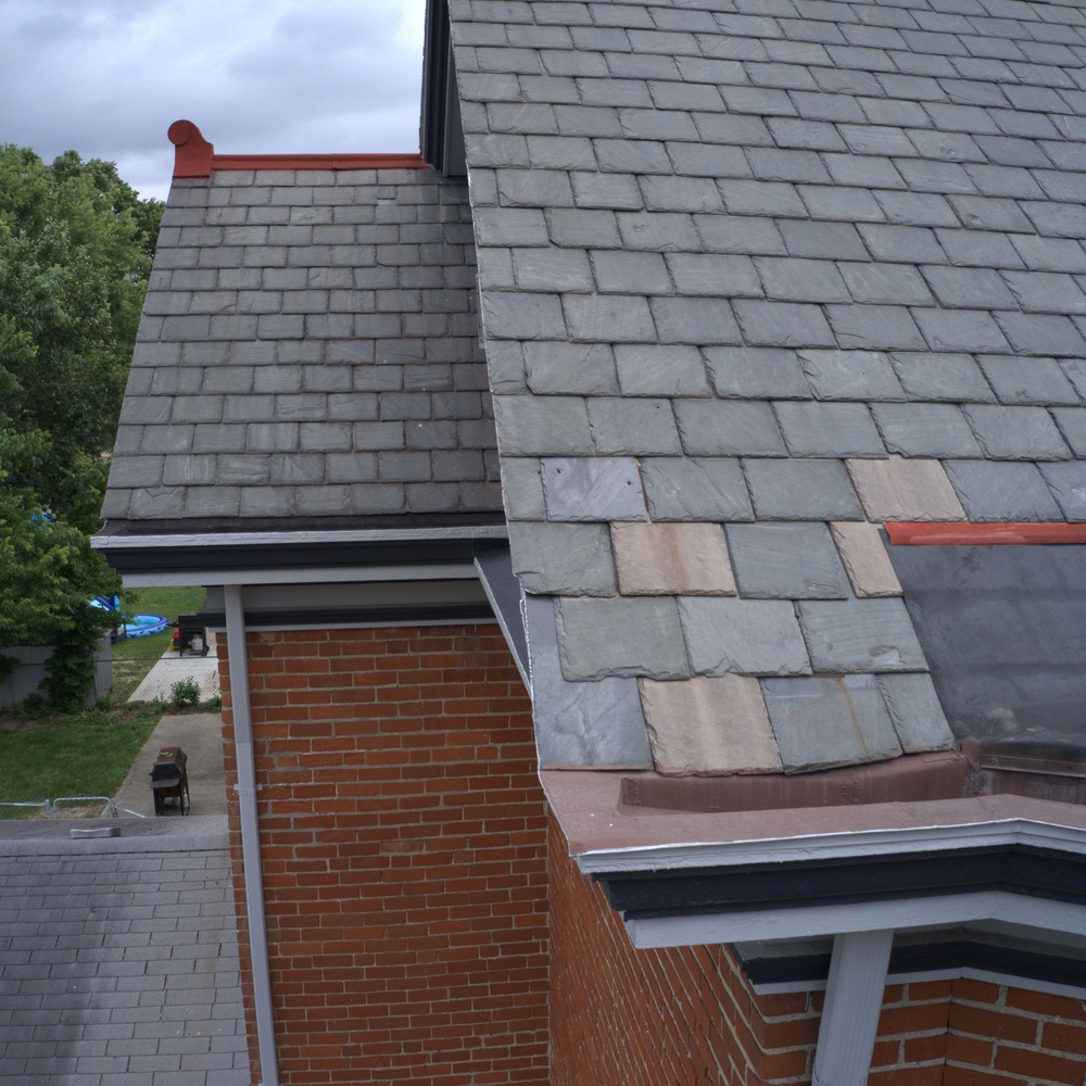 Slate roof inspection