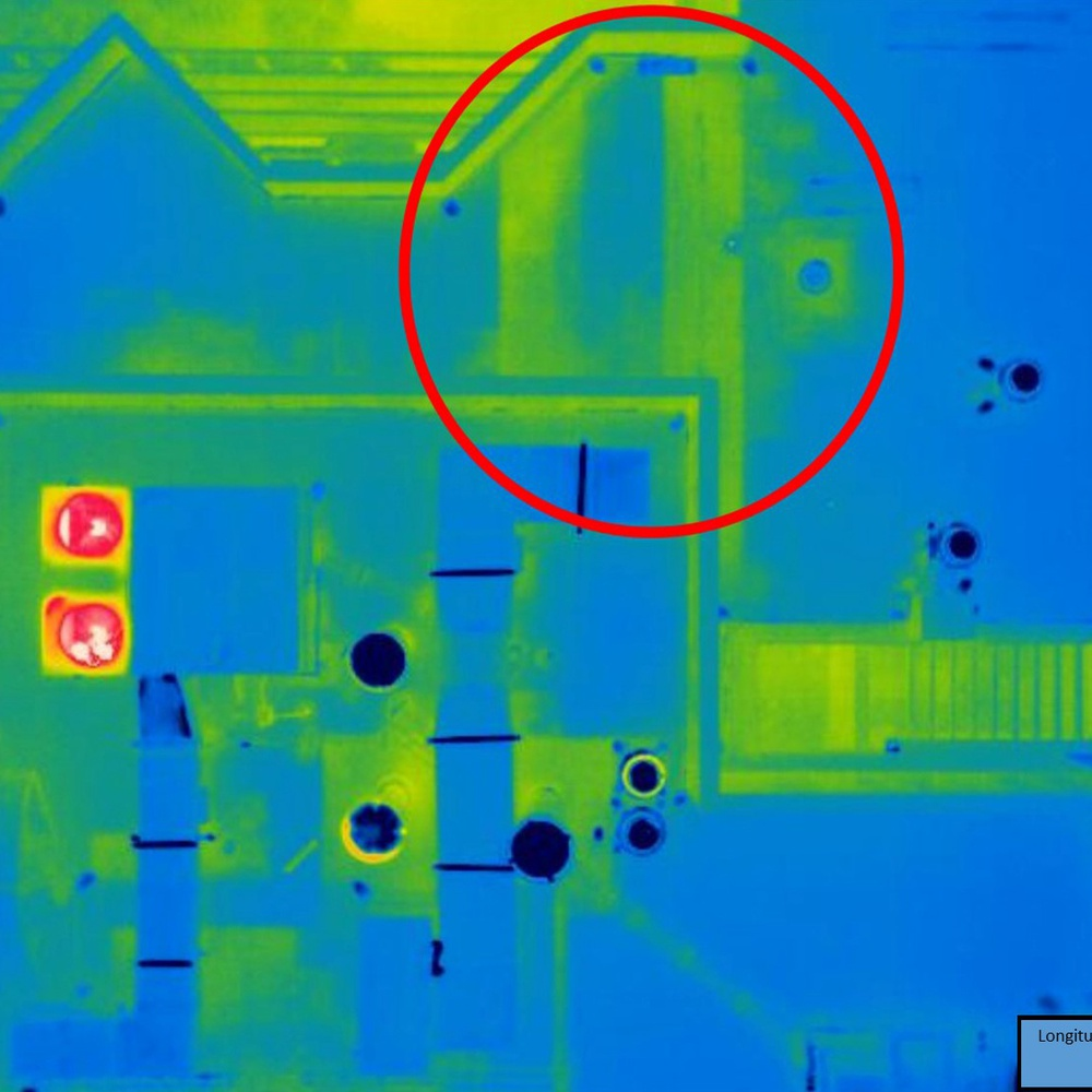Condo Roof Leaks Found via Drone Aerial Thermography