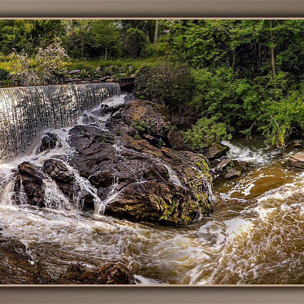 Lake Sequoyah Dam Falls in Highlands, NC