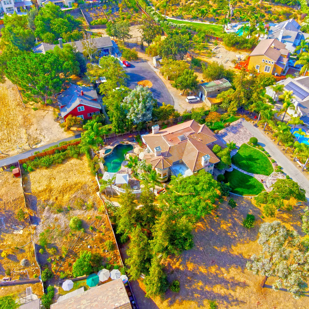 Multiple Blue pools surround this stunning property in Evergreen, California