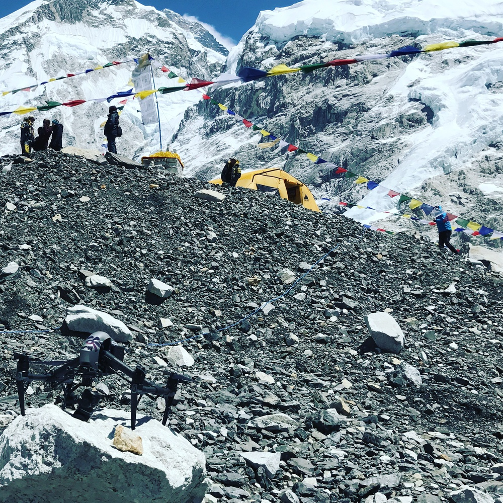 Flying Inspire 2 on Everest