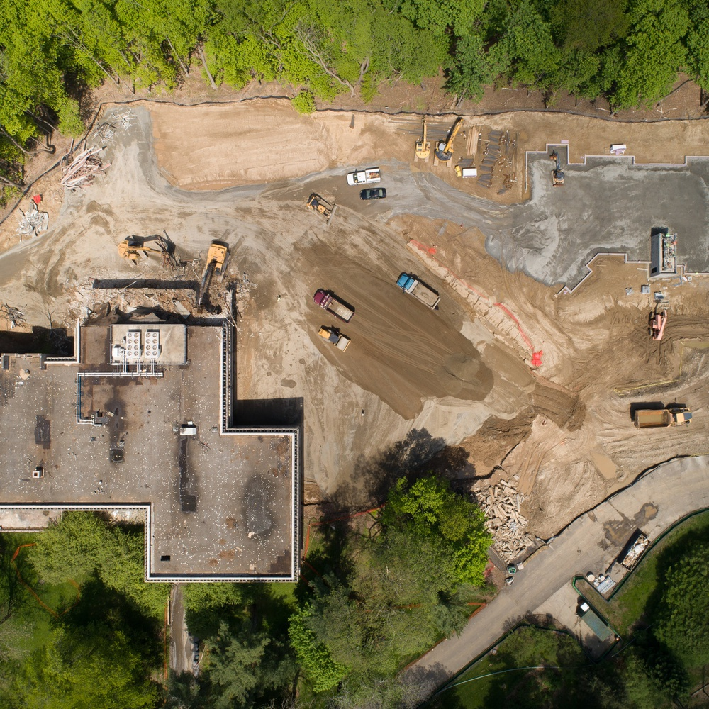 Overhead View Construction