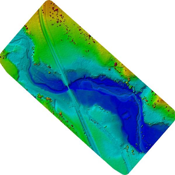 Creek bed survey- Digital Elevation Model (DEM)