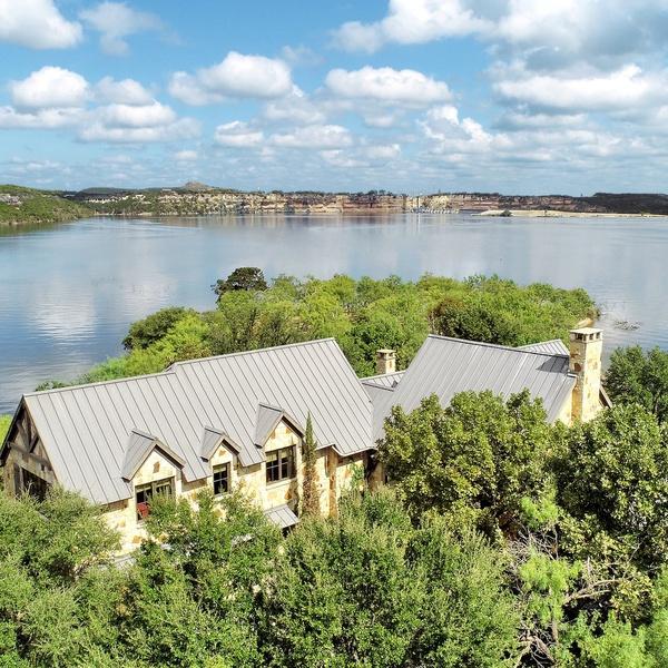 Aerial Estate + Lake View
