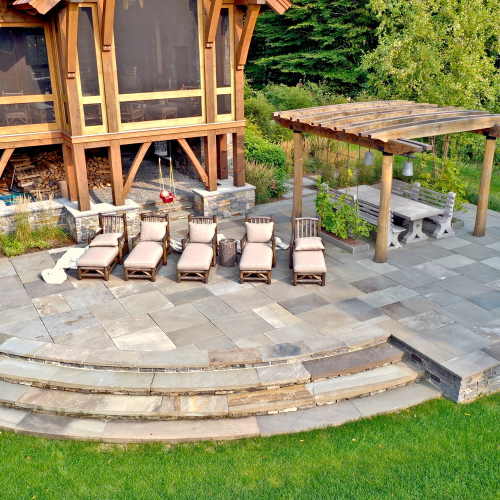 Landscape Design - Patio with Pergola