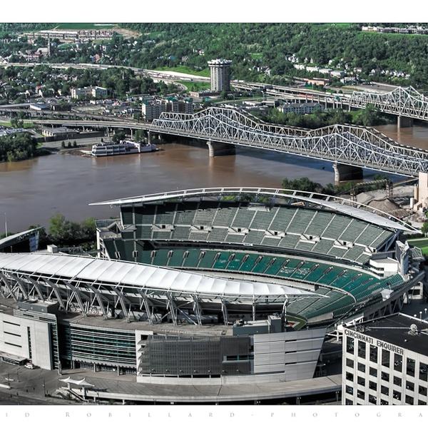 Real Estate Photography Cincinnati, Ohio.  Paul Brown Stadium