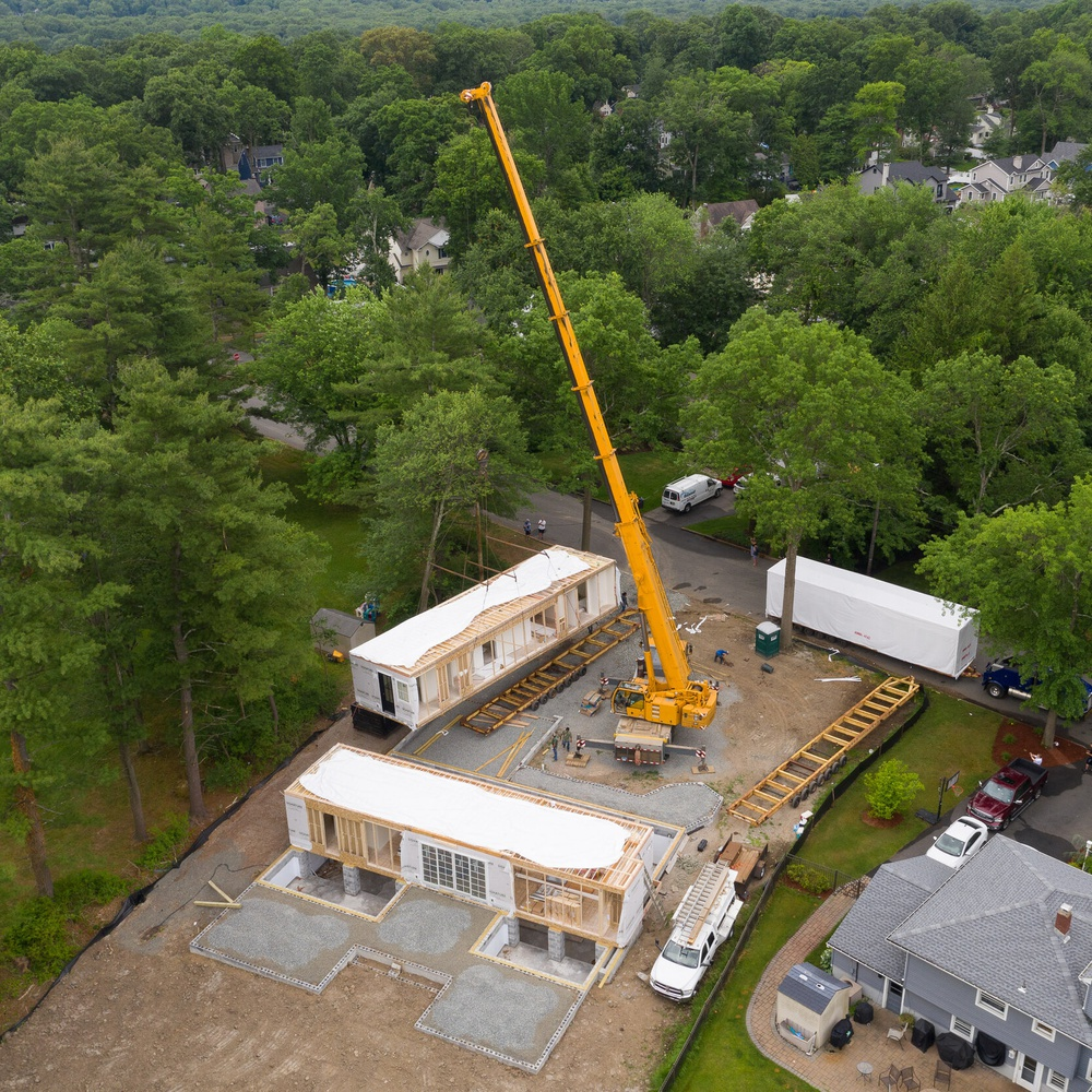 Modular Home Progression Photo