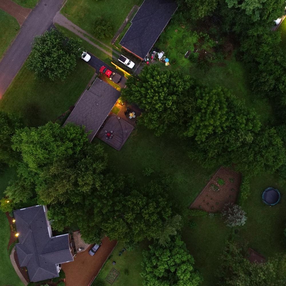 Aerial Overhead - 180 degree tilt