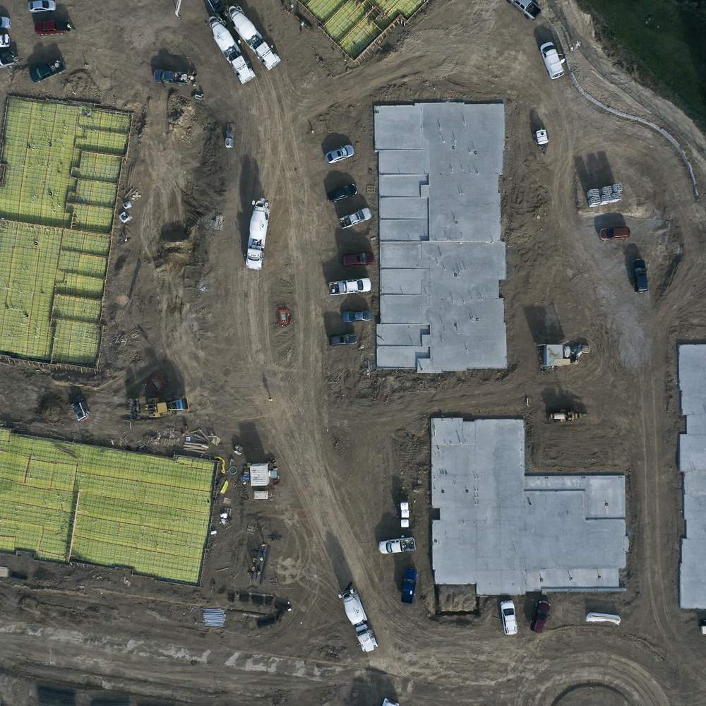 Construction site from above
