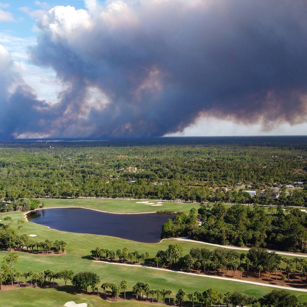 Wildfire in Southwest Florida