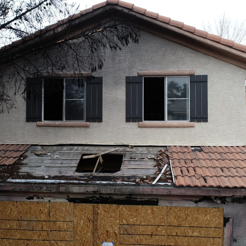 Damage assessment for property owner following a fire in a rental p...