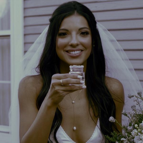 Wedding shot of the Bride