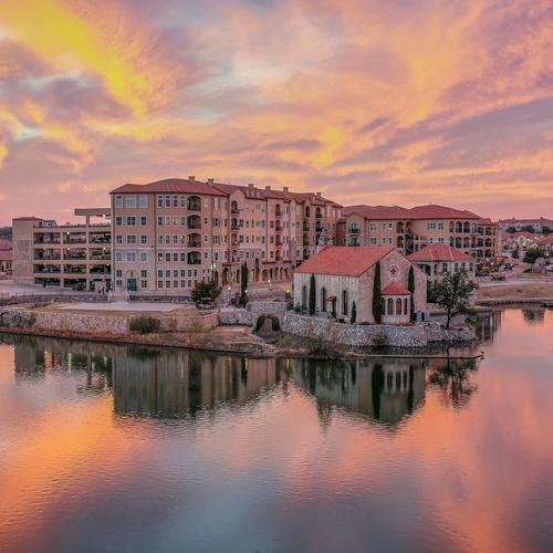 Croatian Village at Sunset