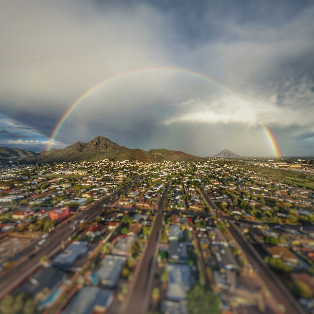 Rainbow over Phoenix Mountains
