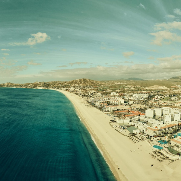 Panoramic still of San Jose del Cabo, Mexico, shot during White House Black Market catalog shoot, 2019.