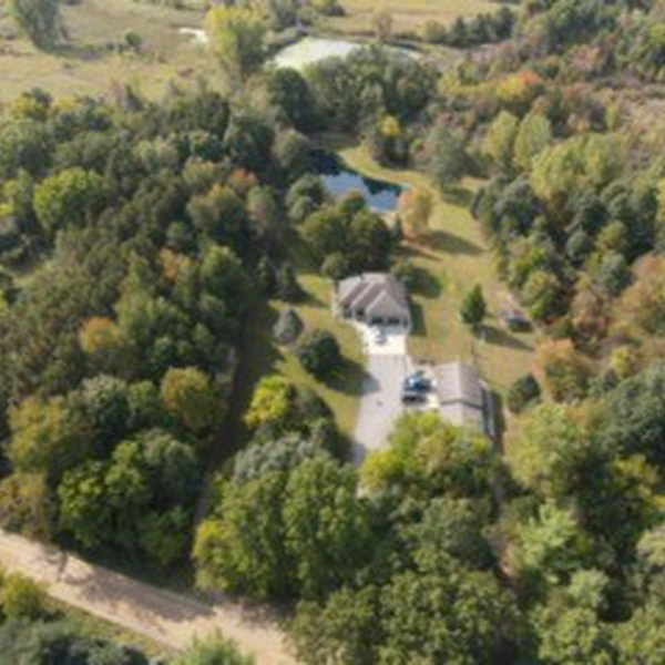High altitude view of a clients property