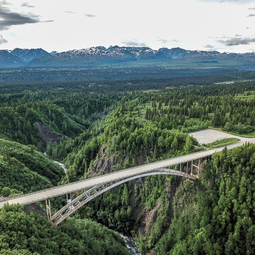 Bridge near Denali National Park in Alaska