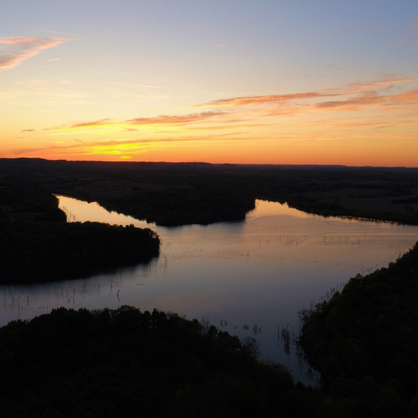 Cedar Creek Lake Sunset