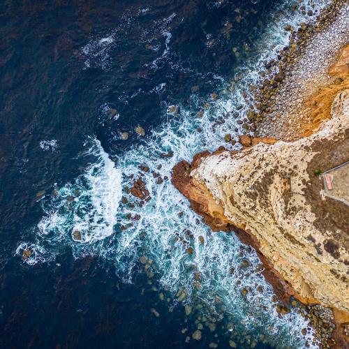 California Coastline top down