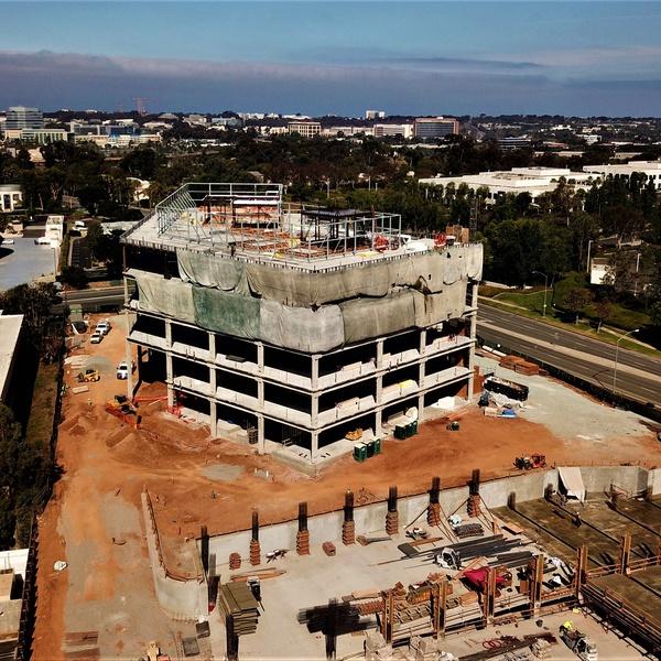 Construction project, UTC, San Diego, CA