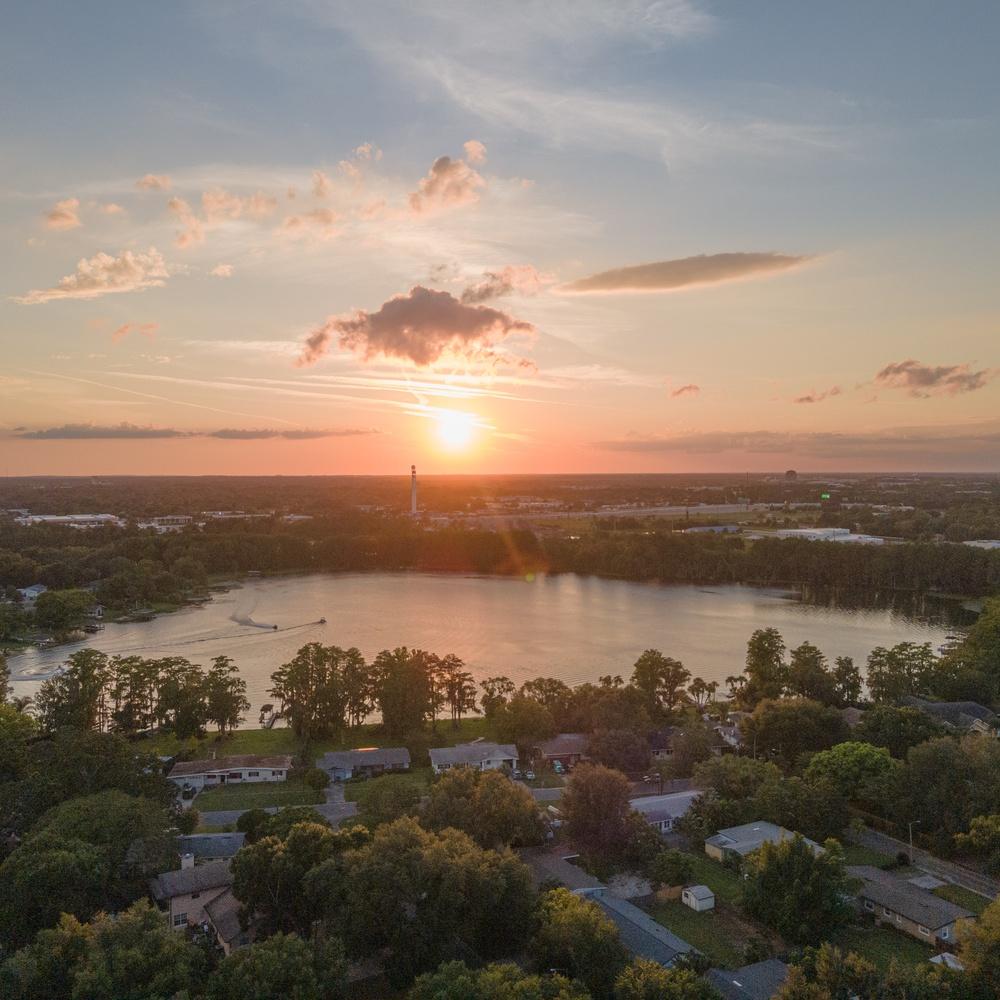 Sunset over Lake Bell