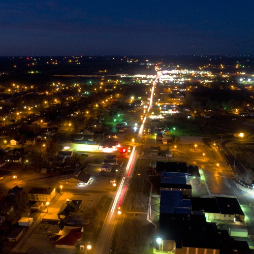Small town night