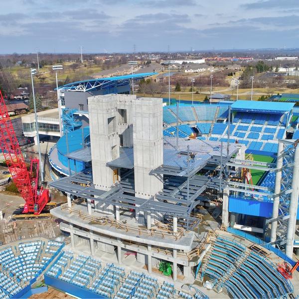 Lindner Tennis Center Construction 2018 (February 2018)
