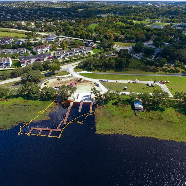 Clermont Boat Ramp Construction