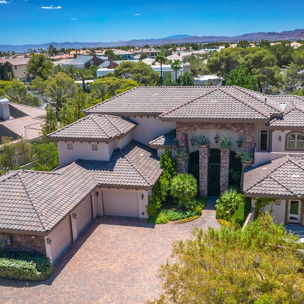 Aerial Photography for Luxury Las Vegas Home by Aces Up Media