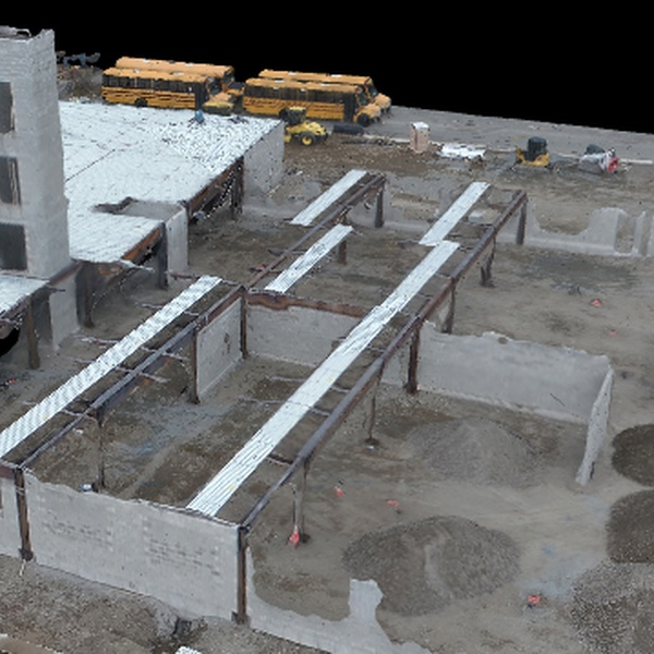3d modeling of a construction site