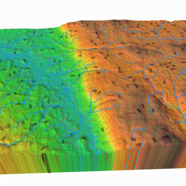Complete Topo Maps with Contour and DSM/DTM data