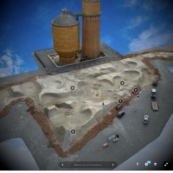3D model of Shire Built dirt track installed at the Port of Bellingham