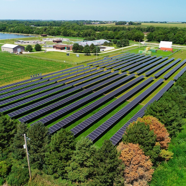 Aurora, Nebraska Solar Farm Overview for GenPro Energy Solutions - August 2020
