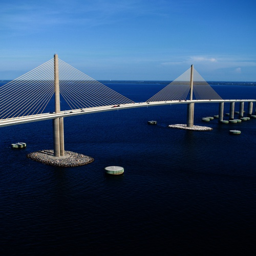 Skyway Bridge Tampa Bay.