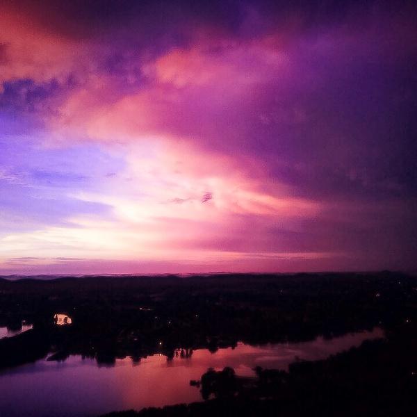 sky above Southside, AL at twilight
