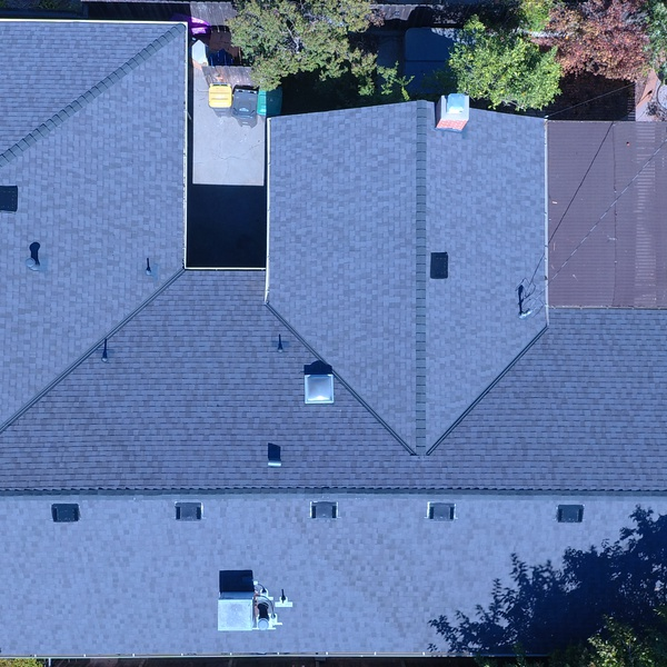 Roof complete Overhead