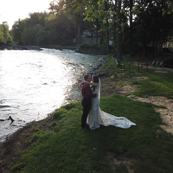 A couple getting married