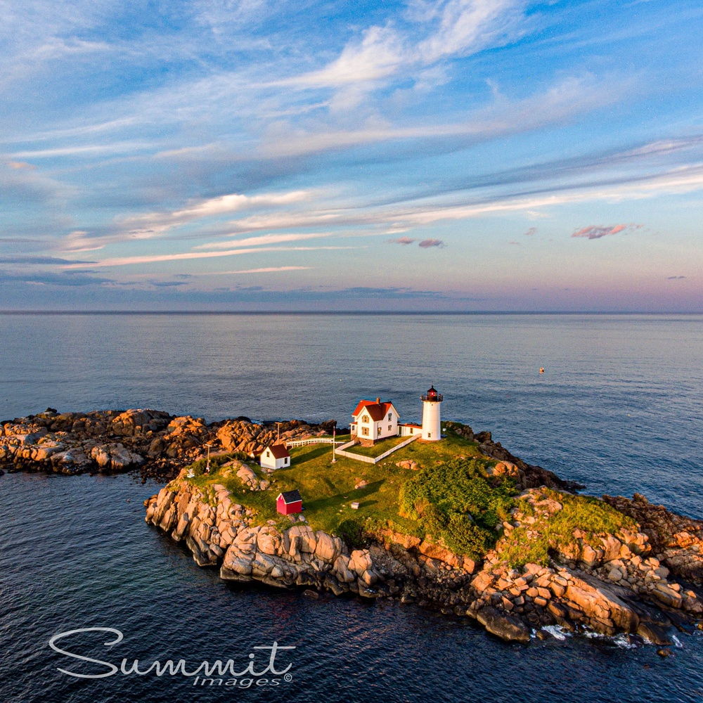 Sunset over The Nubble Lighthouse