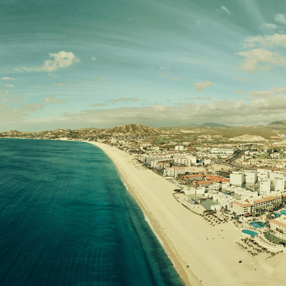 Panoramic still of San Jose del Cabo, Mexico, shot during White House Black Market catalog shoot, 2019.
